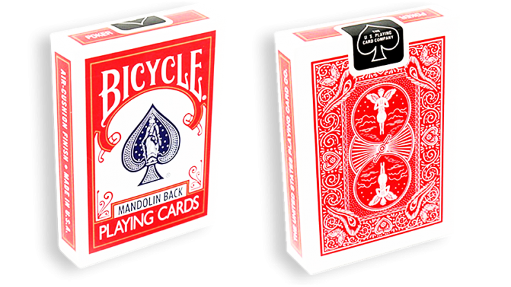 Bicycle Playing Cards 809 Mandolin Back    Blue/Red by USPCC-Jassher Magic Shop