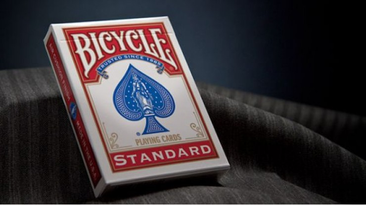 Bicycle Playing Cards Poker (Red)-Jassher Magic Shop